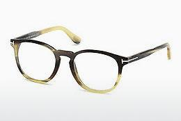 Designerglasögon Tom Ford FT5498-P 64H - Beige/grå, Horn, Brown