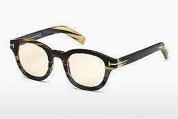 Designerglasögon Tom Ford FT5499-P 64E - Beige/grå, Horn, Brown