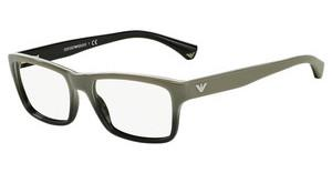 Emporio Armani EA3050 5346 WHITE GRADIENT BLACK ON BLACK