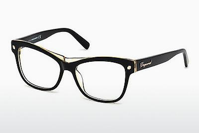 Designerglasögon Dsquared DQ5196 003 - Svart, Transparent