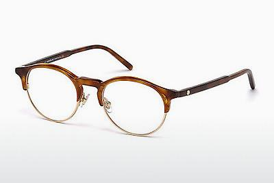 Designerglasögon Mont Blanc MB0555 053 - Havanna, Yellow, Blond, Brown