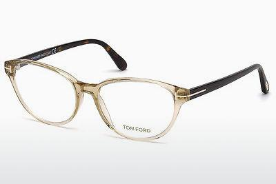 Designerglasögon Tom Ford FT5422 057 - Beige/grå, Shiny