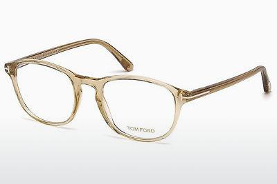 Designerglasögon Tom Ford FT5427 057 - Beige/grå, Shiny