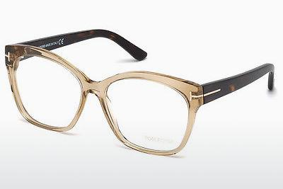 Designerglasögon Tom Ford FT5435 057 - Beige/grå, Shiny