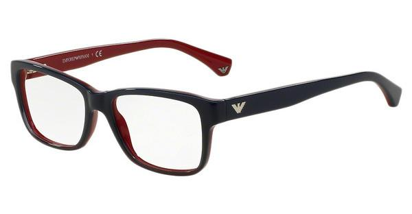Emporio Armani EA3051 5347 BLUE GRADIENT RED ON RED
