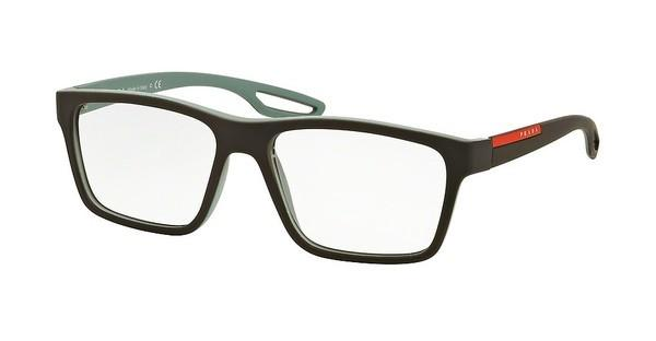 Prada Sport PS 07FV UFJ1O1 BROWN RUBBER/LT GREEN RUBBER
