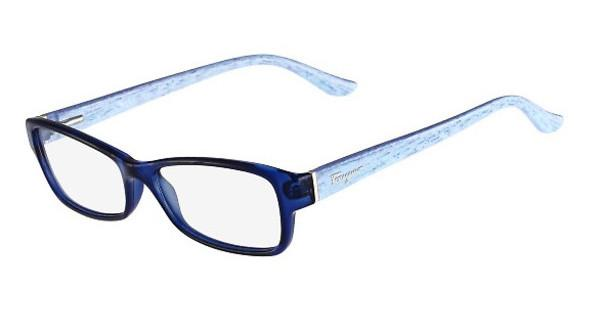 Salvatore Ferragamo SF2689 471 BLUE/AZURE WOOD