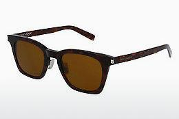 Solglasögon Saint Laurent SL 138 SLIM 003 - Brun, Havanna