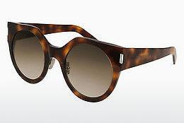 Solglasögon Saint Laurent SL 185 SLIM 002 - Brun, Havanna