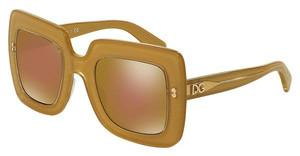 Dolce & Gabbana DG4263 2963F9 BROWN MIRROR BRONZETOP GOLD ON GOLD