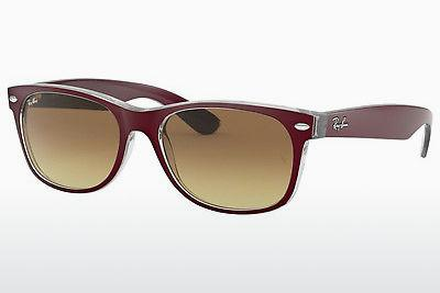 Solglasögon Ray-Ban NEW WAYFARER (RB2132 605485) - Röd, Transparent