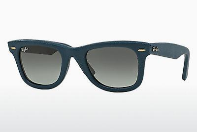 Solglasögon Ray-Ban WAYFARER LEATHER (RB2140QM 116871) - Blå