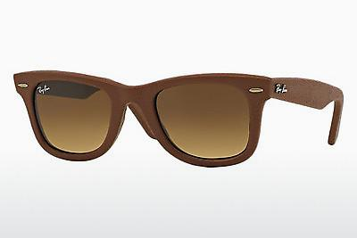 Solglasögon Ray-Ban WAYFARER LEATHER (RB2140QM 116985) - Brun
