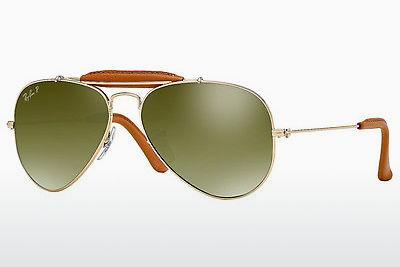 Solglasögon Ray-Ban AVIATOR CRAFT (RB3422Q 001/M9) - Guld, Brun
