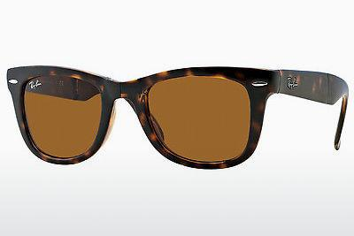 Solglasögon Ray-Ban FOLDING WAYFARER (RB4105 710) - Brun, Havanna