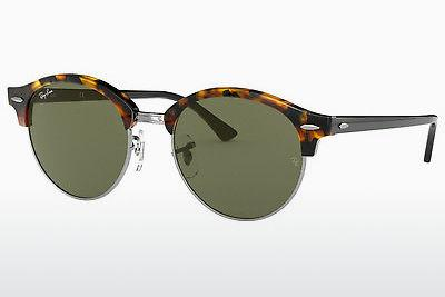 Solglasögon Ray-Ban Clubround (RB4246 1157) - Svart, Brun, Havanna