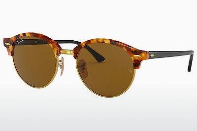 Solglasögon Ray-Ban Clubround (RB4246 1160) - Brun, Havanna