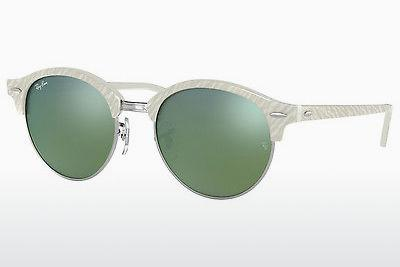 Solglasögon Ray-Ban Clubround (RB4246 988/2X) - Vit