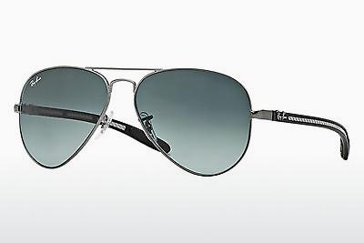 Solglasögon Ray-Ban AVIATOR TM CARBON FIBRE (RB8307 029/71) - Grå, Mässing/koppar
