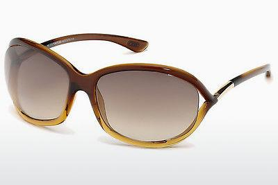 Solglasögon Tom Ford Jennifer (FT0008 50F) - Brun, Dark