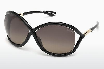 Solglasögon Tom Ford Whitney (FT0009 01D) - Svart, Shiny