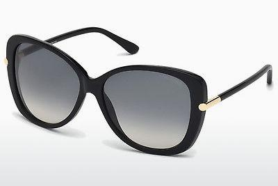 Solglasögon Tom Ford Linda (FT0324 01B) - Svart, Shiny