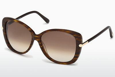 Solglasögon Tom Ford Linda (FT0324 50F) - Brun, Dark