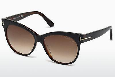 Solglasögon Tom Ford Saskia (FT0330 03B) - Svart, Transparent