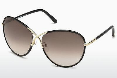 Solglasögon Tom Ford Rosie (FT0344 01B) - Svart, Shiny