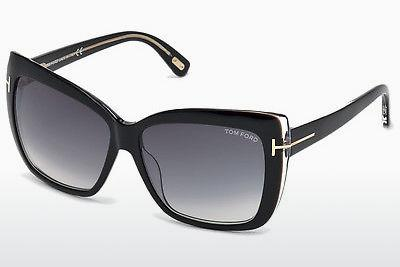 Solglasögon Tom Ford Irina (FT0390 01B) - Svart, Shiny