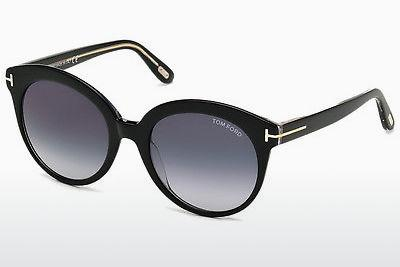 Solglasögon Tom Ford Monica (FT0429 03W) - Svart, Transparent