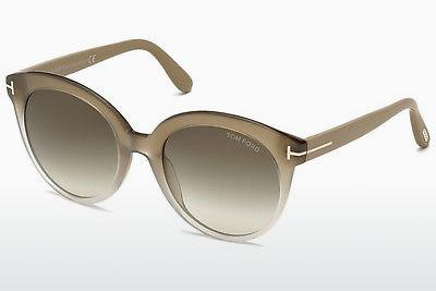 Solglasögon Tom Ford Monica (FT0429 59B) - Beige/grå, Beige, Brown