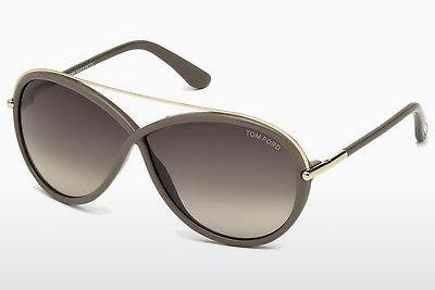 Solglasögon Tom Ford Tamara (FT0454 59K) - Beige/grå, Beige, Brown