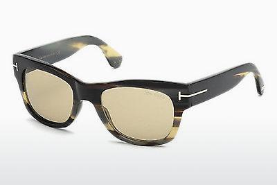 Solglasögon Tom Ford Tom N.2 (FT0487-P 64E) - Beige/grå, Horn, Brown