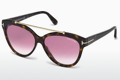 Solglasögon Tom Ford Livia (FT0518 52Z) - Brun, Dark, Havana