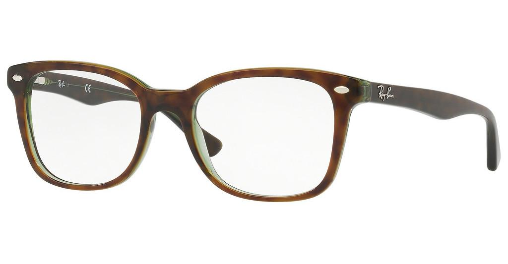 Ray-Ban   RX5285 2383 TOP HAVANA ON GREEN TRANSP.