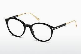 Designerglasögon Tom Ford FT5485 001 - Svart, Shiny