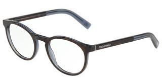 Dolce & Gabbana DG3309 3209 HAVANA ON TRANSPARENT BLUE
