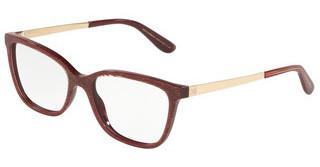 Dolce & Gabbana DG3317 3219 GLITTER GOLD STRIPED BORDEAUX