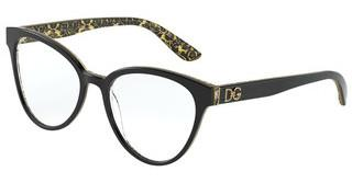 Dolce & Gabbana DG3320 3215 BLACK/DAMASCO GLITTER BLACK