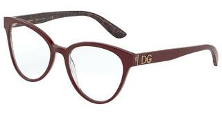 Dolce & Gabbana DG3320 3233 BORDEAUX/DAMASCO GLITTER BLACK