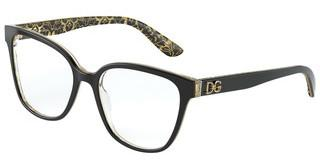 Dolce & Gabbana DG3321 3215 BLACK/DAMASCO GLITTER BLACK