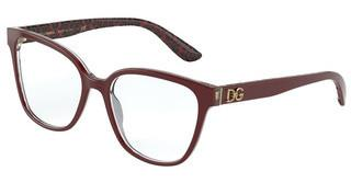 Dolce & Gabbana DG3321 3233 BORDEAUX/DAMASCO GLITTER BLACK