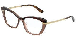 Dolce & Gabbana DG3325 3256 HAVANA ON TRANSPARENT BROWN