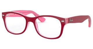 Ray-Ban Junior RY1528 3761 TRASP PINK ON TOP BORDEAUX
