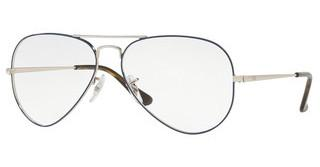 Ray-Ban RX6489 2970 SILVER ON TOP BLUE