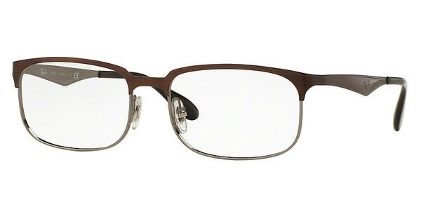 Ray-Ban   RX6361 2862 TOP SHINY BROWN ON GUNMETAL