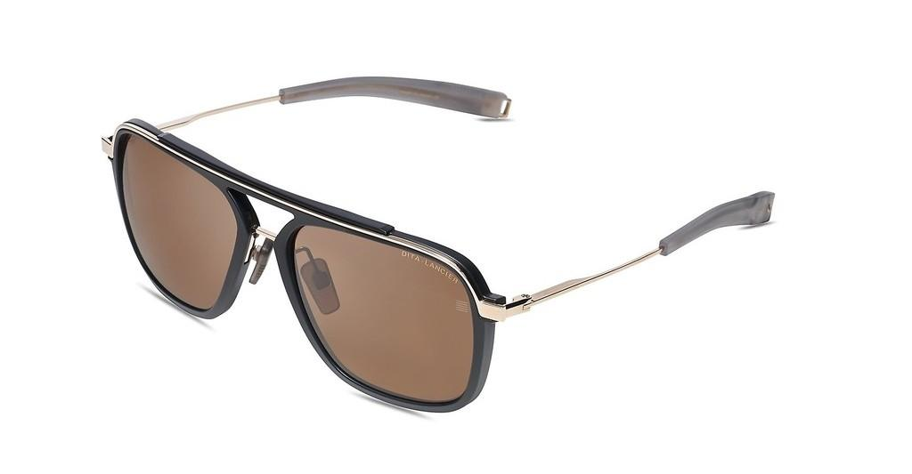 DITA   DLS400 01 Brown PolarMatte Black-White Gold