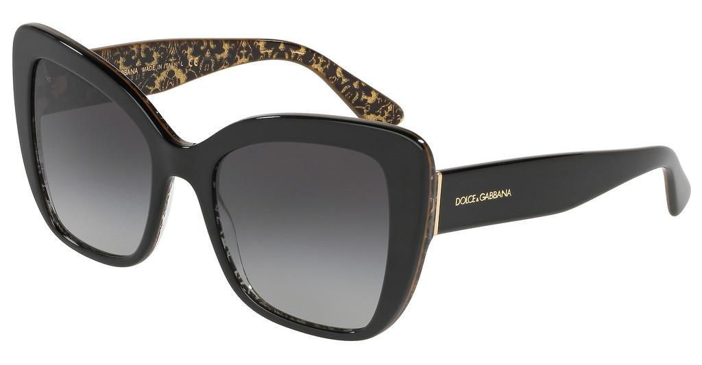 Dolce & Gabbana   DG4348 32158G LIGHT GREY GRADIENT BLACKBLACK/DAMASCO GLITTER BLACK