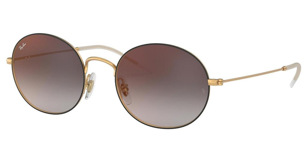 Ray-Ban   RB3594 9114U0 GREY GRADIENT MIRROR REDRUBBER GOLD ON TOP BLACK